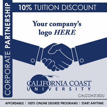 ccu coporate partnership graphic with handshake and your company logo here and 10% tuition discount text