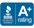 Logo A plus rating better business bureau