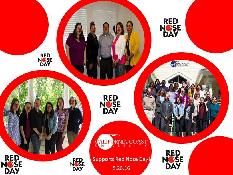 CCU staff participating in red nose day