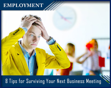 man pulling hair at business meeting - titled employment - 8 Tips for Surviving Your Next Business Meeting
