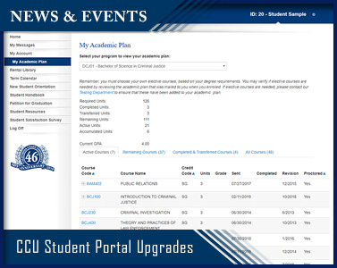 Picture of CCU Student Portal Upgrades
