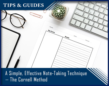 A Simple, Effective Note-Taking Technique — The Cornell Method