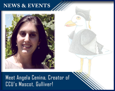 Meet Angela Cenina, the Creator of Gulliver, California Coast University's Mascot!