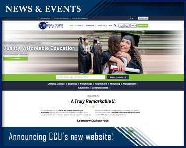 Announcing CCU's new website! Discover the new look of California Coast University!