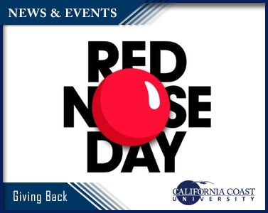 Picture of Giving Back - California Coast University Sponsors RED NOSE DAY