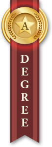 Associate Degree Ribbon Red