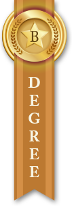 Bachelor's Degree Ribbon Orange