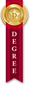 Doctorate Degree Ribbon Dark Red