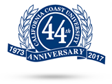 california coast university 41st anniversary logo